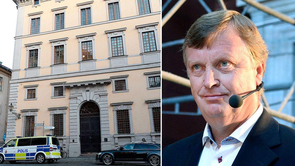 Statens fastighetsverks kontor i Gamla stan i Stockholm samt sparkade generaldirektören Björn Anderson