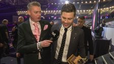Följ vinnaren Robin Bengtsson varje steg backstage efter finalen.