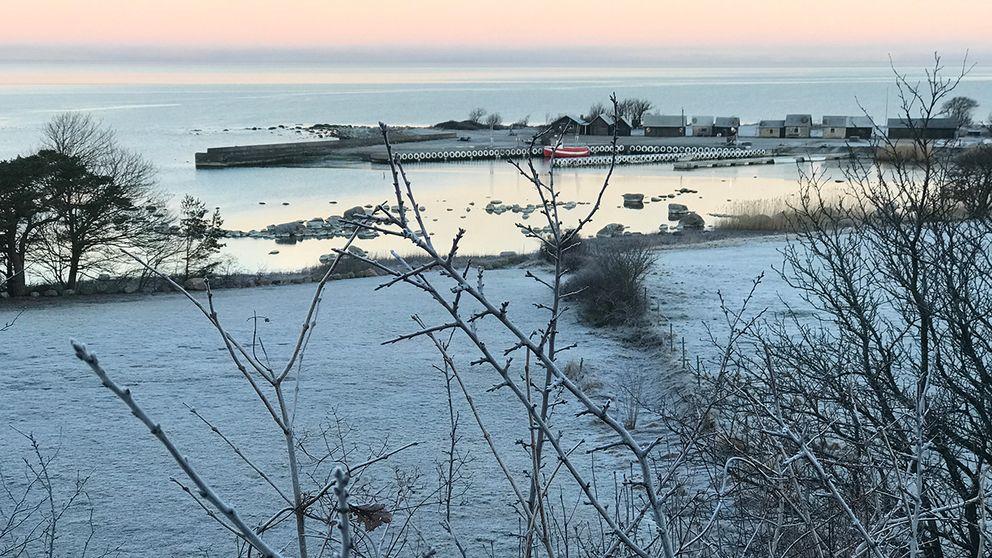 Frostig morgon på Gotland, 12 mars