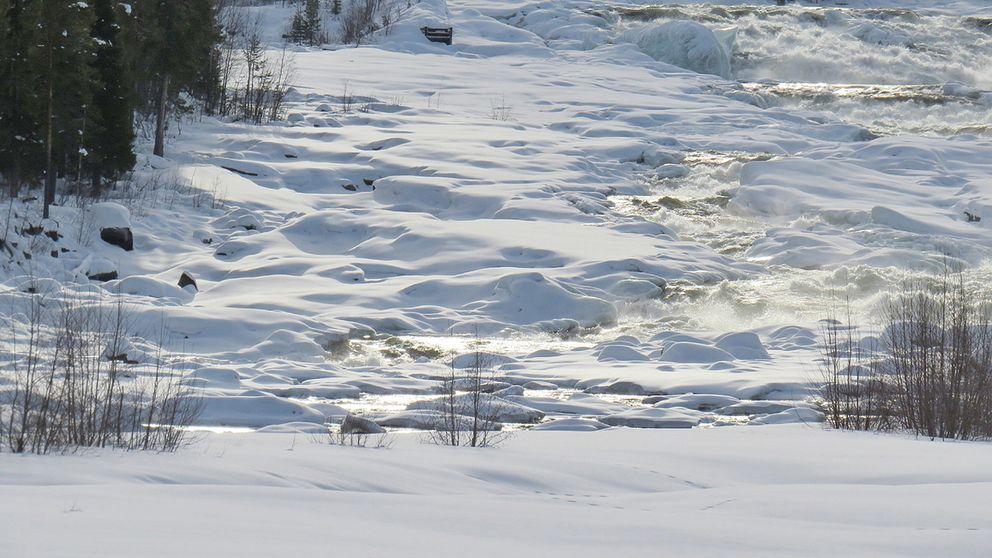 En väldigt vacker plats. Norrbotten, Storforsen, Vidsel. 12/3-2017