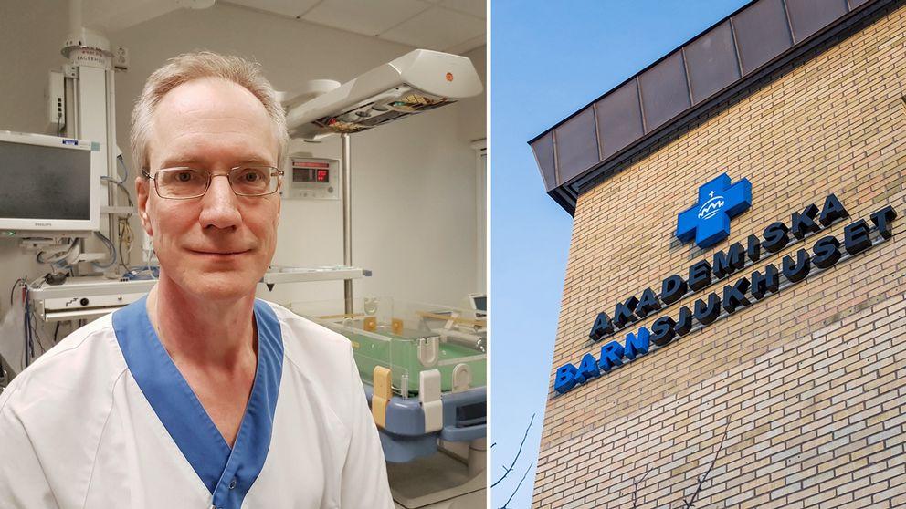 – Jag ger vården ett underbetyg, man tycker ju ändå att svensk sjukvård ska kunna ta hand om sina egna medborgare, säger Erik Norman, sektionschef på neonatalogin.