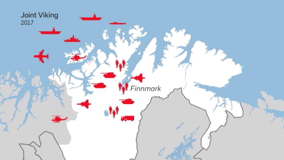 Kartbild över Finnmark
