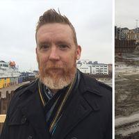Johan Svedström från Midroc är byggherre för de nya bostadshusen och kongresshuset.