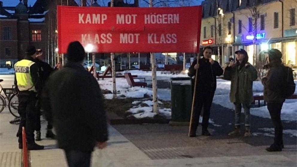 demonstranter, manifestation, polis, protest