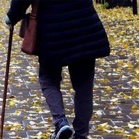 Pensionär och byggarbetsplats i Helsingborg