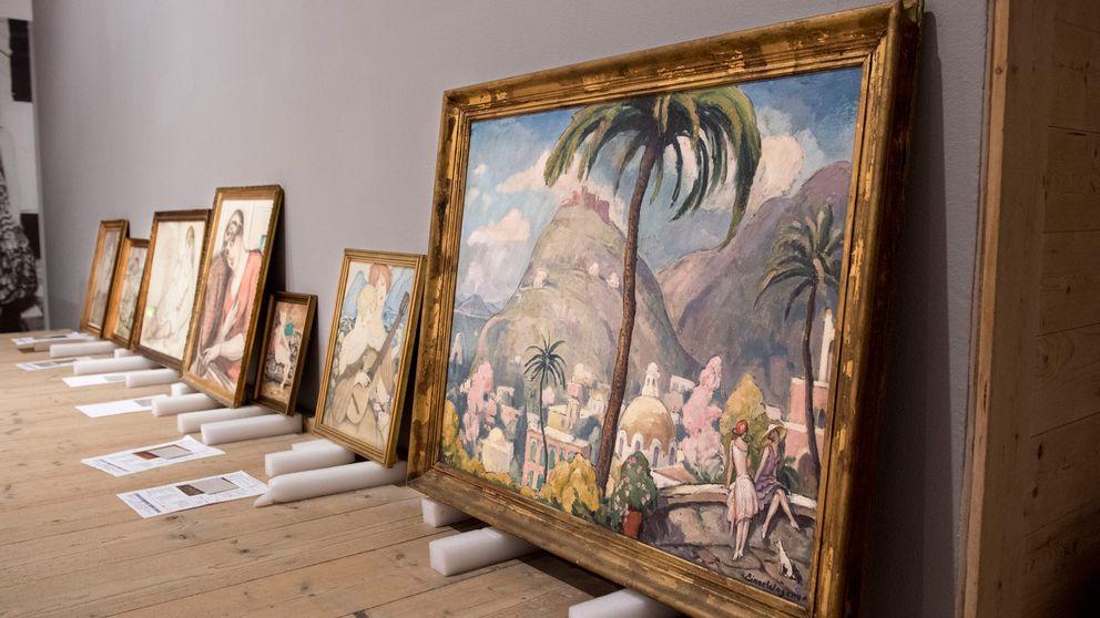 Tavlor för utställning på Millesgården