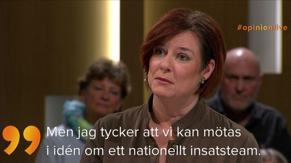 Anna Carlstedt, Nationella samordnaren mot våldsbejakande extremism.