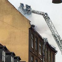Kraftig brand i Köpenhamn – boende evakueras