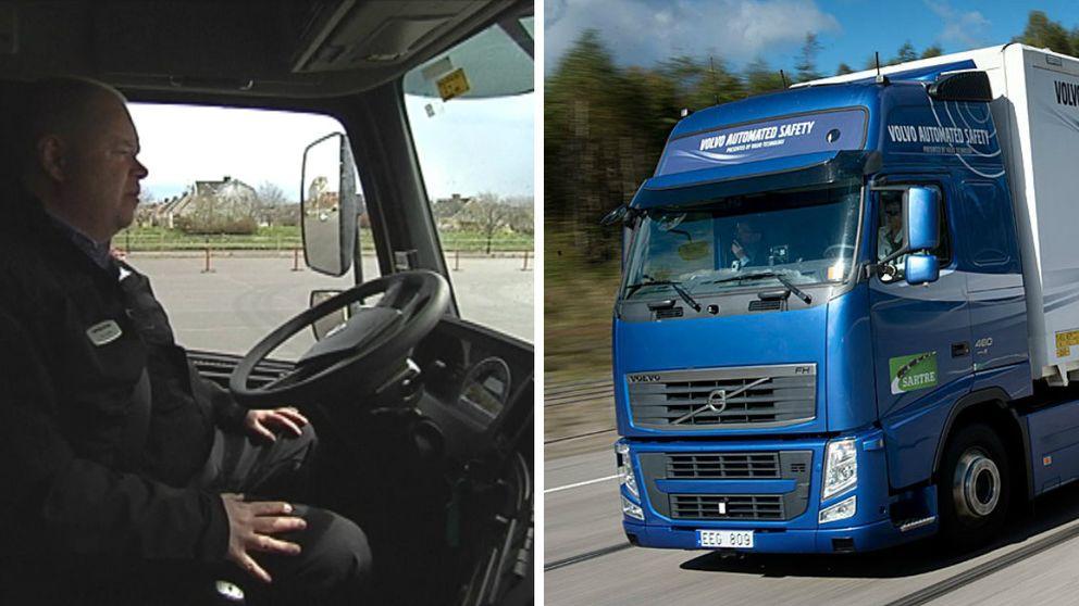 Självkörande lastbil. Lastbilar