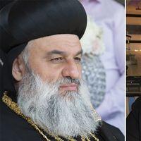 Patriarken Mor Ignatius Aphrem och biskopen Hazail Suomi.