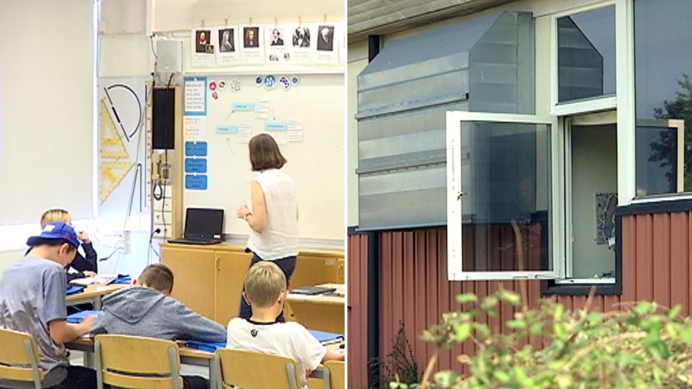 I september var det över 30 grader varmt i klassrummen på Lagaholmsskolan i Laholm.
