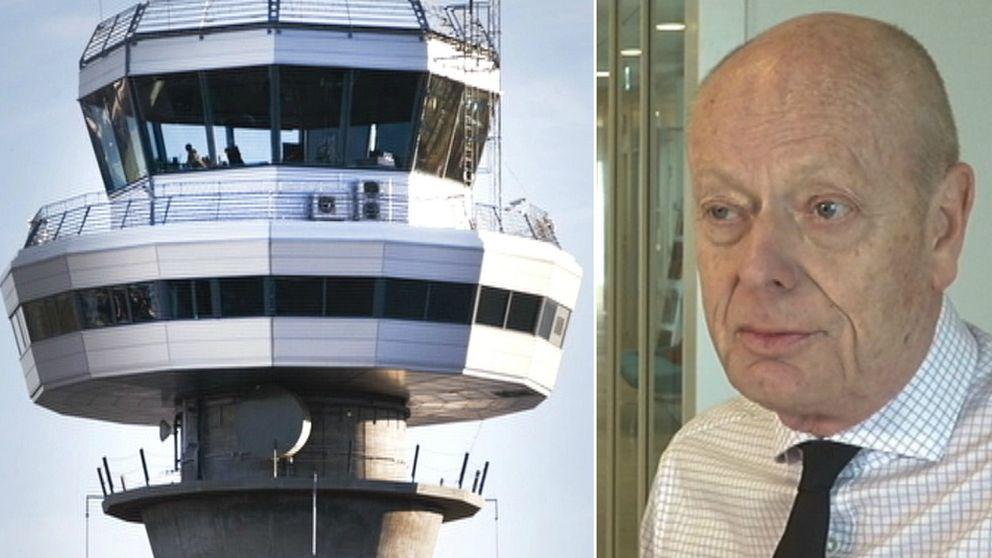 flygtorn, olle sundin generaldirektör för Luftfartsverket