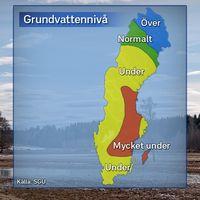 Grundvattennivåer i stora magasin, 2017-03-22