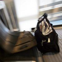 Handbagage på Arlanda flygplats.