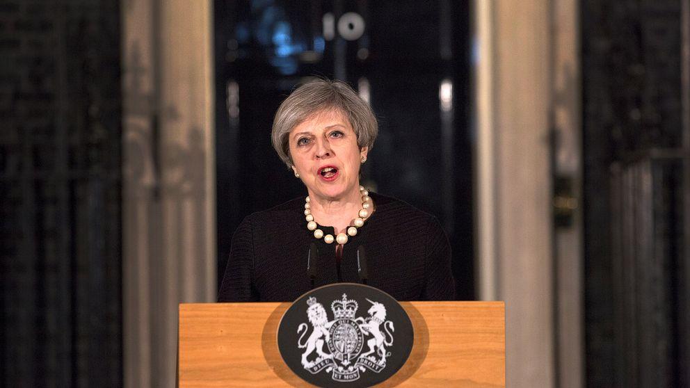 Storbritanniens premiärminister Theresa May höll under onsdagskvällen ett kort anförande
