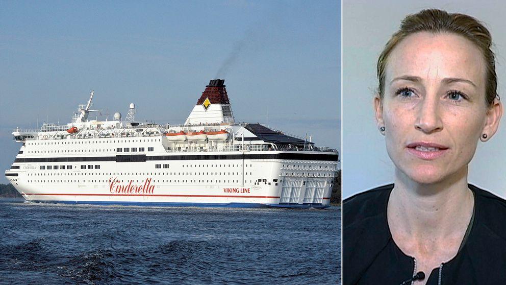 Viking Lines färja Cinderella, Anna Möller på Söderjukhuset