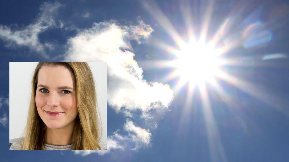 Tora Tomasdottir, metororlog på SVT lovar sol i sydsverige i helgen.