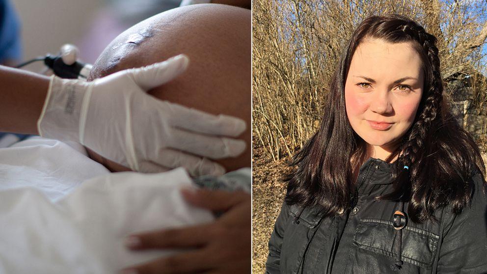 En gravid kvinnas mage/Emma Juhlin
