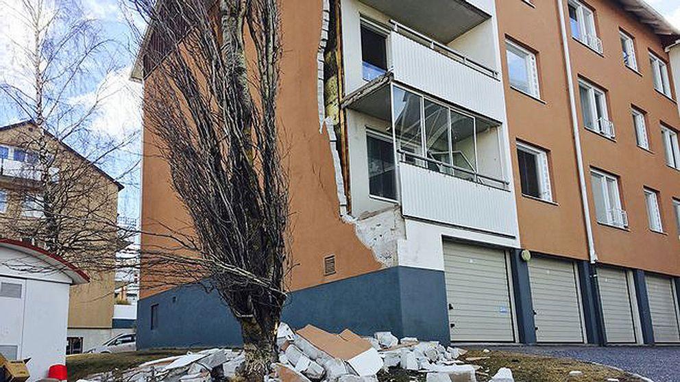 Fasad rasade i Härnösand