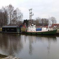 Svartån i Örebro vid småbåtshamnen