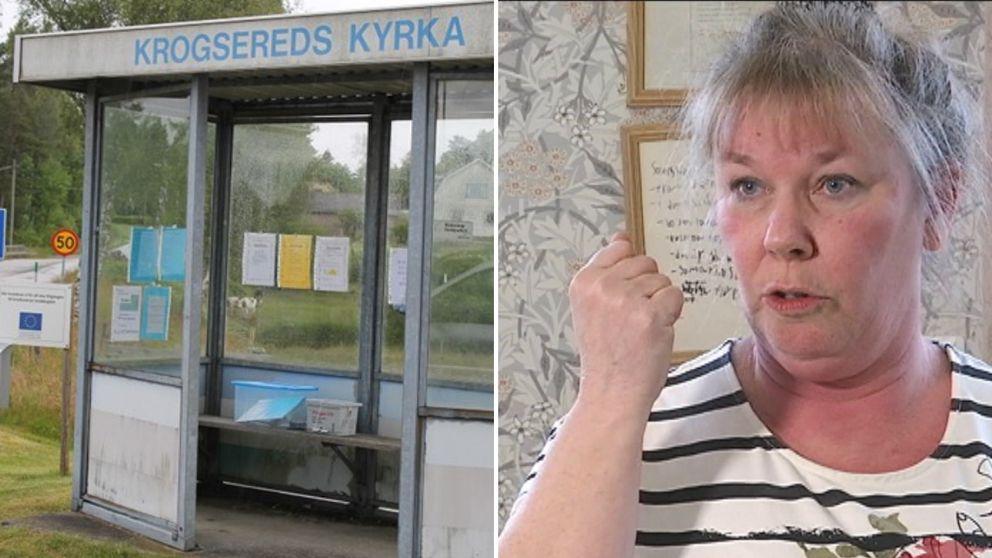 Busskur och Sara Ljungström, Krogseredsbo.