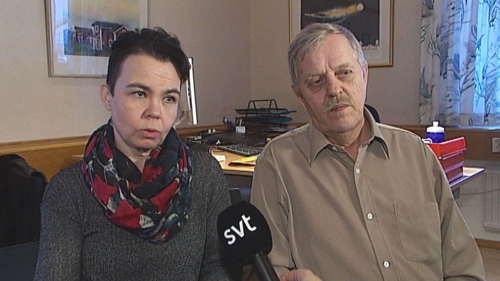 Anna Kumpula-Kostet (V) och Jan Larsson(S).