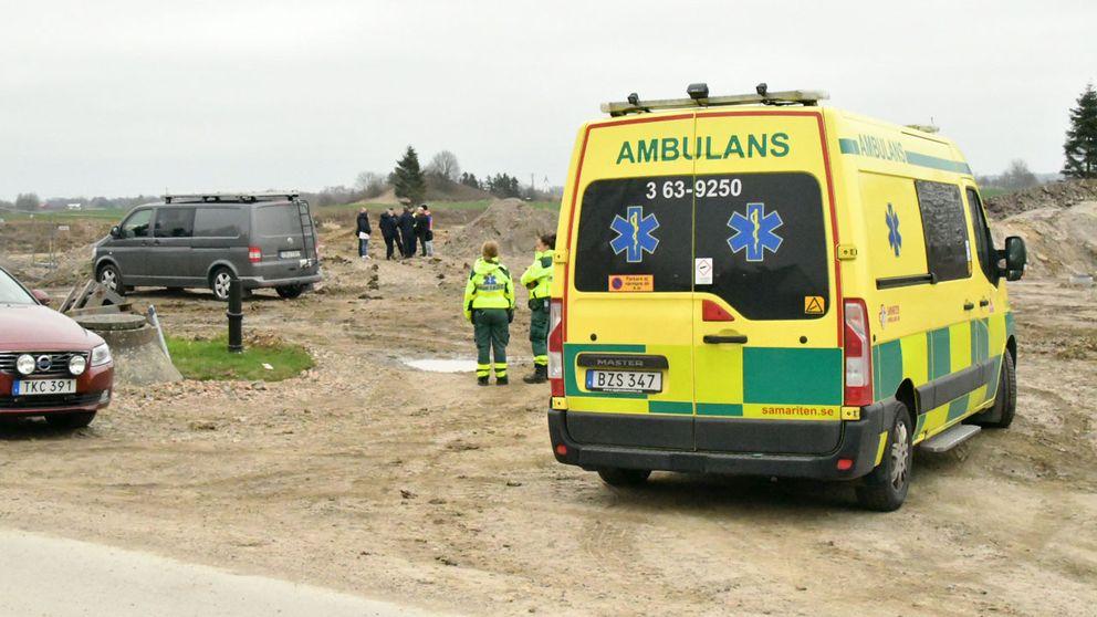 En död kropp hittades i Nordanå i Staffanstorps kommun.