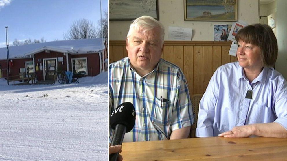 Torbjörn och Annelie Wikström driver lanthandeln i Saxnäs.