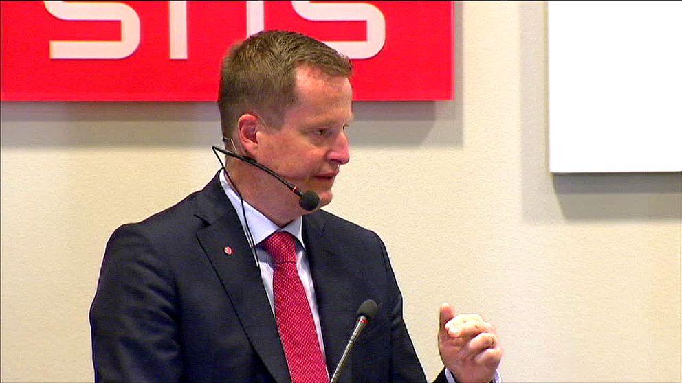 Inrikesminister Anders Ygeman (S) diskuterade flyktingmottagandet.