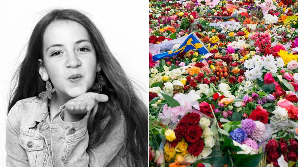 Ebba, 11 år, dog i terrorattacken på Drottninggatan.