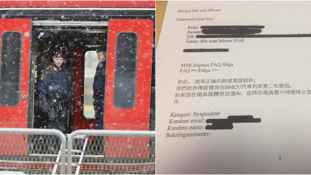 Bombhotet mot MTR Express i februari var skrivet på kinesiska visar ett dokument som tidningen GT begärt ut.