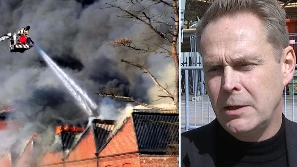 Branden i företagshotellet i Falkenberg.