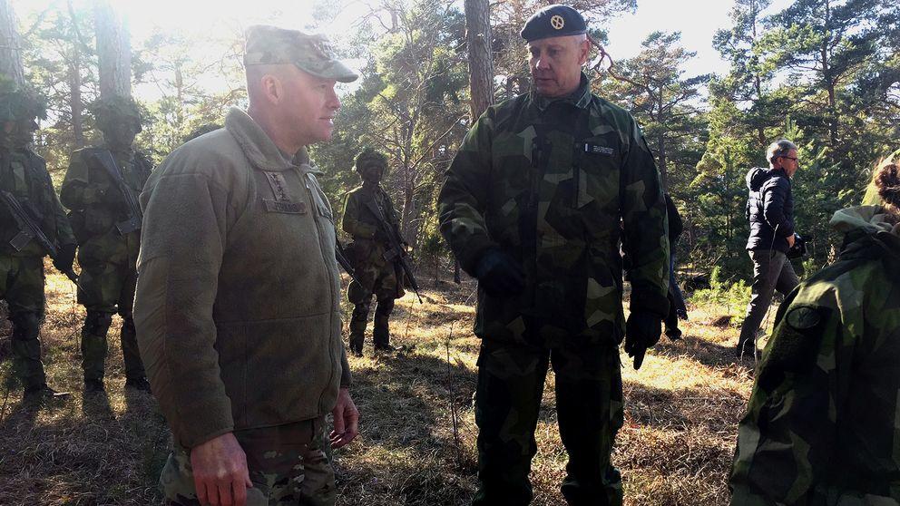 amerikansk arméchef besök Gotland öst