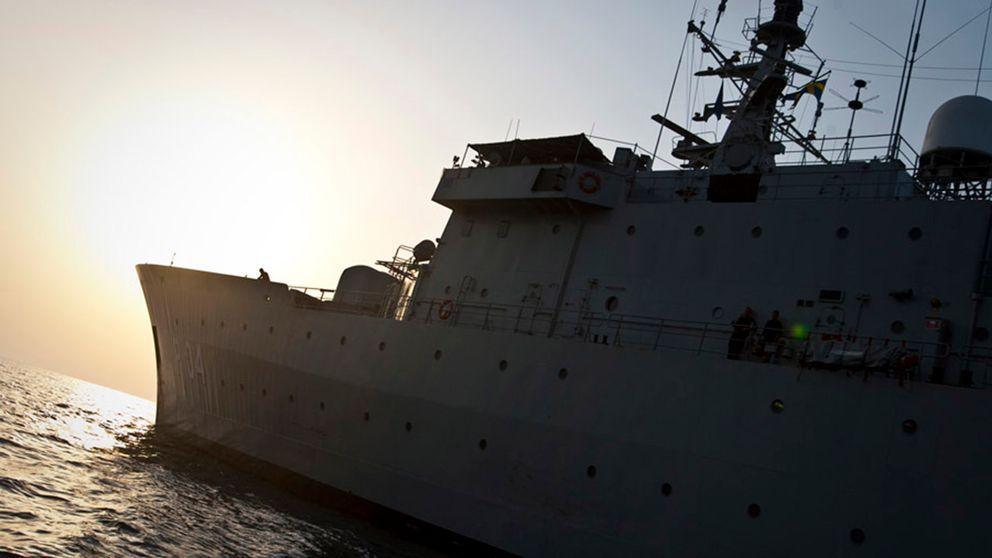 HMS Carlskrona, som tidigare deltagit i operation Atalanta