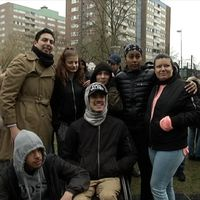 Grupp människor