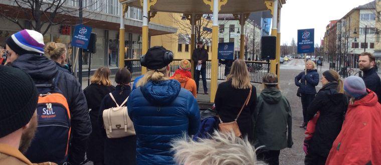March for sciense i Luleå april 2017.