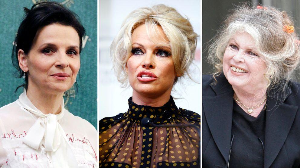 Juliette Binoche, Pamela Anderson och Brigitte Bardot har alla tagit ställning inför det franska presidentvalet.