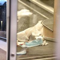 Bilder inifrån tåget visar blodigt kaos från knivattacken. Polisen förhör nu de 80 vittnen som såg vad som hände.