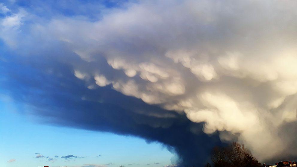 Spännande moln i Kristianstad