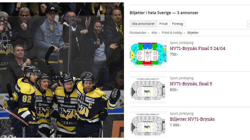 Stort tryck på hockeybiljetter