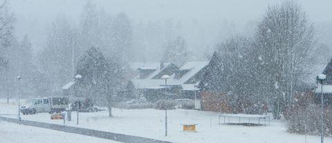 Snön vräker ner här i Malung.