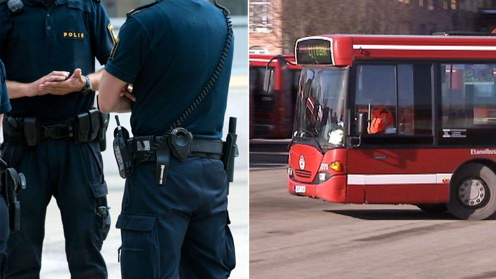 Samarbetet mellan Järvapolisen och Arriva innebär att polisen är med och biträder kontrollanterna vid biljettkontroller.