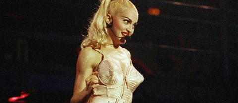 Madonna på Blonde Ambition-turnén 1990.