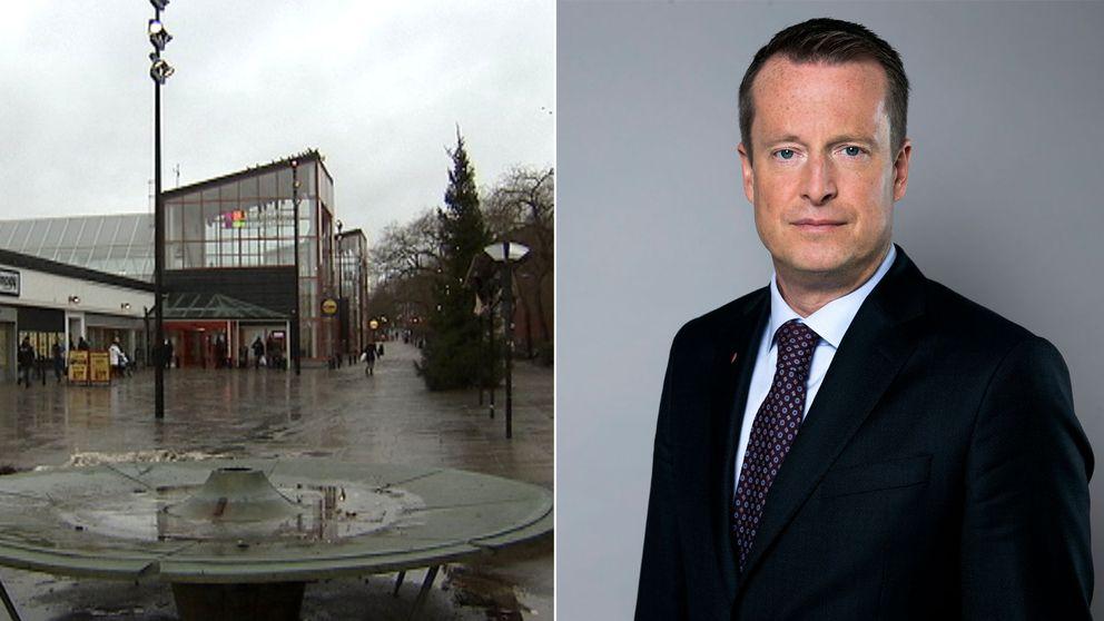 """""""Vi ska garantera medborgarna i Husby, och alla andra förorter, trygghet"""", säger Anders Ygeman (S)."""