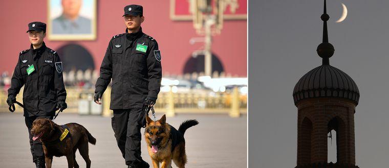 Peking och Kashgar, Xinjiang.