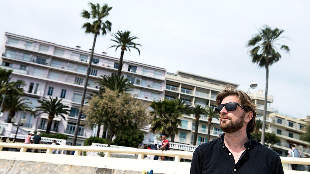 Ruben Östlund i Cannes när han visade filmen Turist på filmfestivalen 2014.