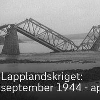 Rovaniemi brändes till grunden och broarna sprängdes.