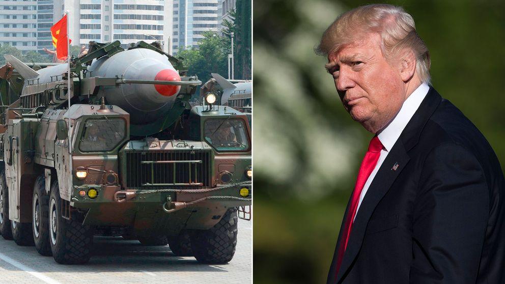 Trump menar att Nordkorea missaktat Kina med sitt senaste robottest.