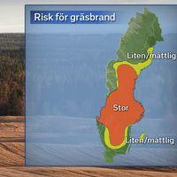 Risk för gräsbrand på valborgsmässoafton