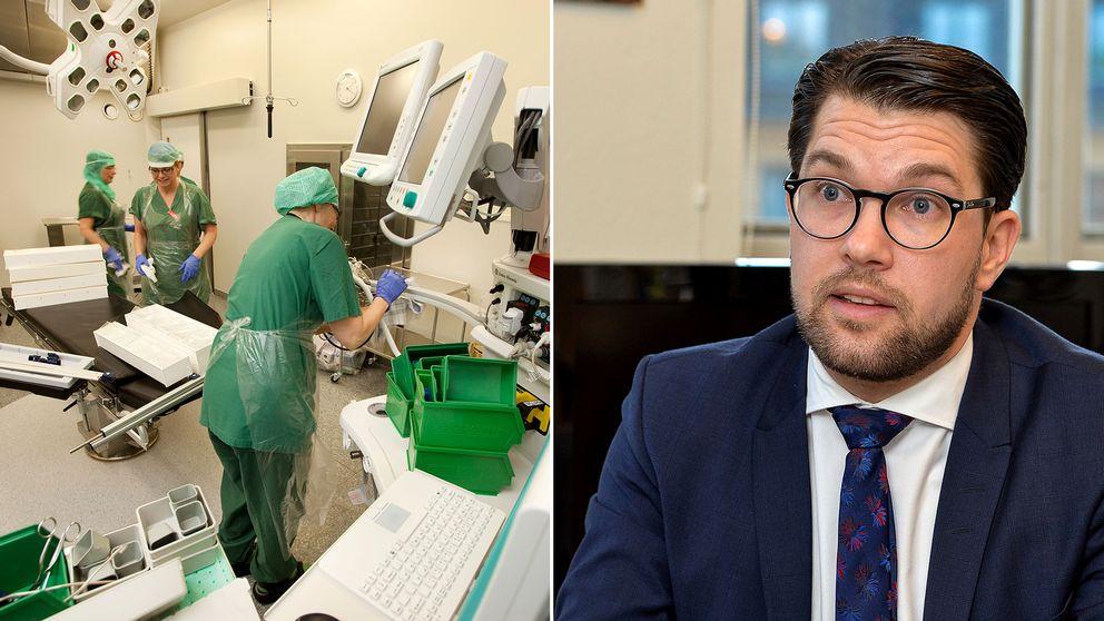 Totalt satsar Sverigedemokraterna knappt åtta miljarder på sjukvården nästa år med målet att profilera sig som det nya sjukvårdspartiet.